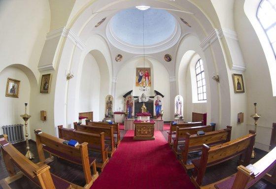 Irmanto Gelūno/15min.lt nuotr./Bažnyčia Vilniuje, kur meldžiamasi tik ukrainietiškai.