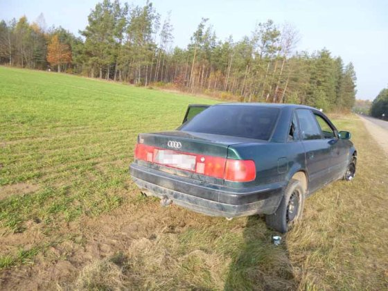 VSAT nuotr./Sulaikytas bėglių automobilis