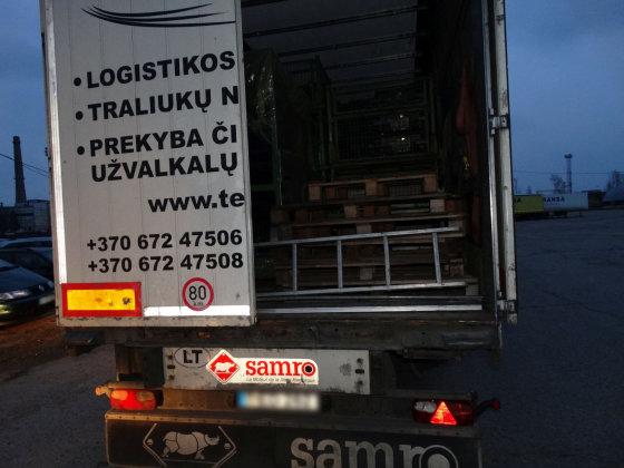 Alytaus apskrities VPK nuotr./Sulaikytas vilkikas