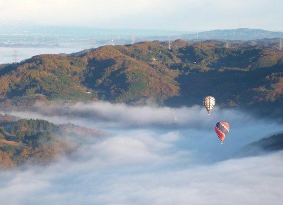 Eglės Digrytės nuotr./Japonija iš oro baliono