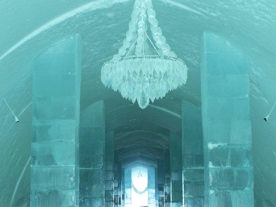 123rf/com/Ledo sietynas Kirunoje esančiame ledo viešbutyje
