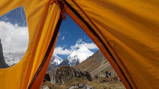 Nakvynė palapinėje Butane.