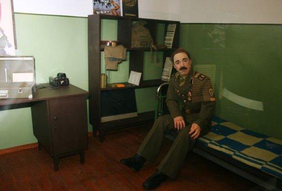 Šaltojo karo muziejaus ekspozicijų salė.
