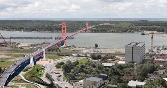 Uosto direkcijos nuotr./Tilto per Kuršių nerija vizualizacija