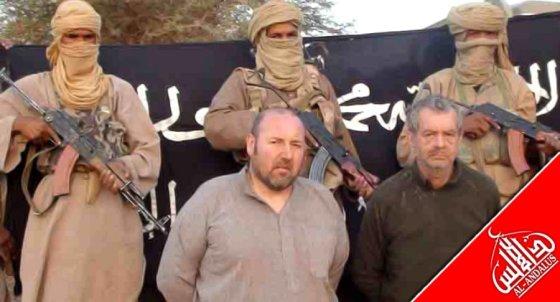 AFP/Scanpix nuotr./Įkaitais paimti Philippe Verdonas (dešinėje) ir Serge Lazarevicius.