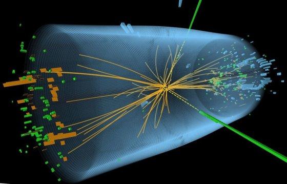 """AFP/""""Scanpix"""" nuotr./Higgso bozono egzistavimo įrodymų buvo ieškoma Didžiajame hadronų greitintuve stebint beveik šviesos greičiu skriejančių protonų susidūrimus."""