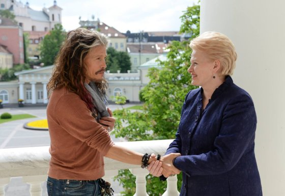 Prezidentūros nuotr./Dalia Grybauskaitė ir Stevenas Tyleris