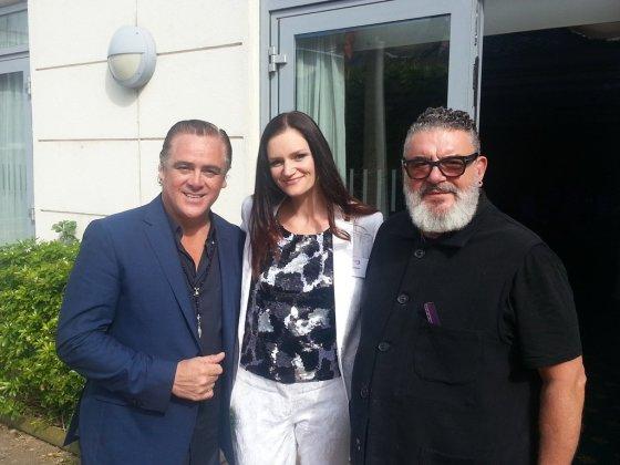 Asmeninio albumo nuotr./Vaida Urbaitė su komisijos nariais Patricku Cameronu (kairėje) ir Timu Hartley