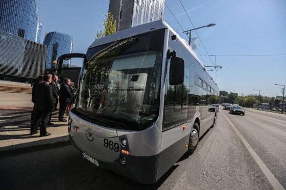 "Juliaus Kalinsko/15min.lt nuotr./Naujieji Vilniaus autobusai ""Castrosua"""