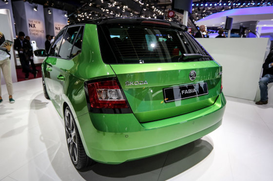 """Juliaus Kalinsko/15min.lt nuotr./Naujoji """"Škoda Fabia"""" Paryžiaus automobilių parodoje"""