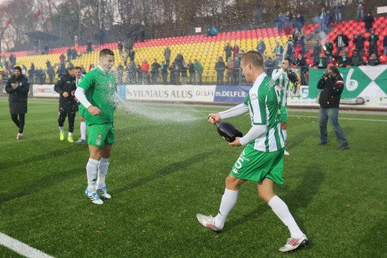 "Juliaus Kalinsko/15min.lt nuotr./Vilniaus ""Žalgiris"" – vėl Lietuvos futbolo A lygos čempionas"
