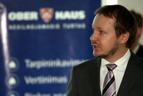 """Nekilnojamojo turto bendrovės """"Ober–Haus"""" Vertinimo ir rinkotyros skyriaus vadovas Saulius Vagonis"""