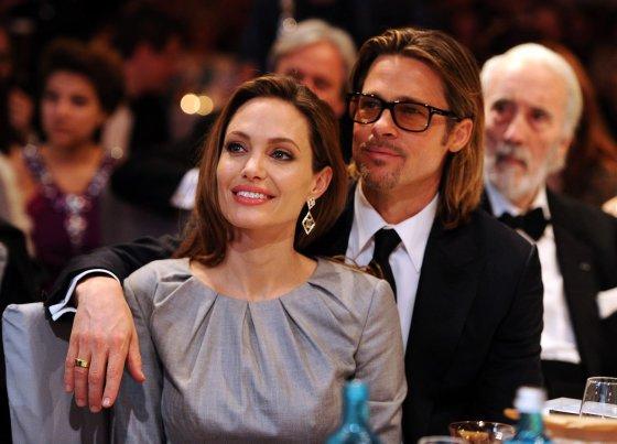 """""""Reuters""""/""""Scanpix"""" nuotr./Bradas Pittas ir Angelina Jolie (2012 m.)"""