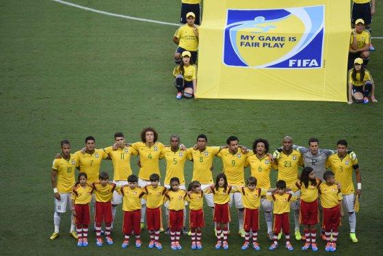 """AFP/""""Scanpix"""" nuotr./Brazilijos futbolo rinktinė"""