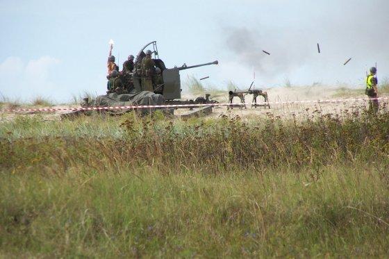 KAM archyvo ir  Lenkijos gynybos ministerijos nuotr./Oro gynybos sistemos m48 šaudymai