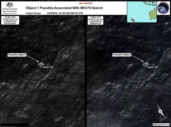 """""""Reuters""""/""""Scanpix"""" nuotr./Palydovo nuotraukose pastebėti į lėktuvo nuolaužas panašūs objektai."""