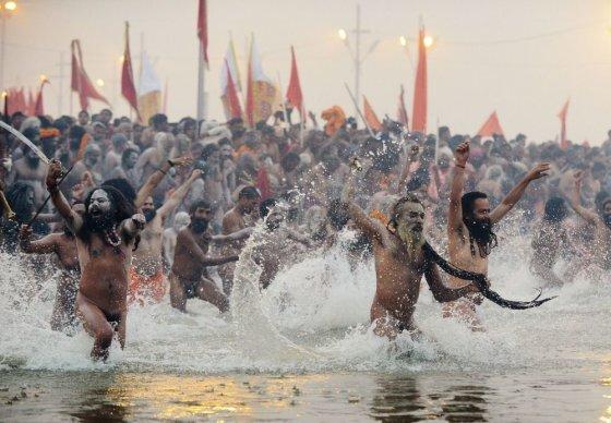 "AFP/""Scanpix"" nuotr./Religinio festivalio akimirka"