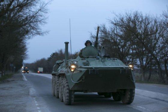 """""""Reuters""""/""""Scanpix"""" nuotr./Rusijos karinė technika Kryme"""