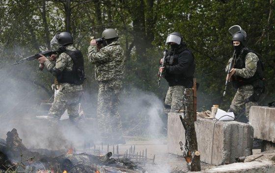 """Reuters""/""Scanpix"" nuotr./Ukrainos kariai Slovjanske"