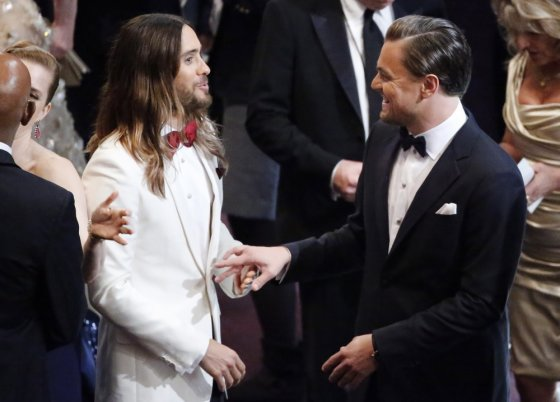 """Reuters""/""Scanpix"" nuotr./Jaredas Leto ir Leonardo DiCaprio"