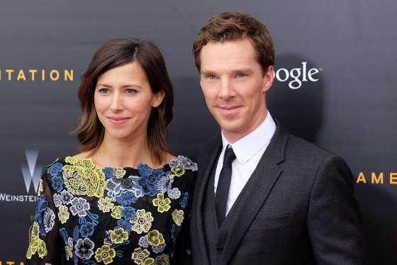 "AFP/""Scanpix"" nuotr./Benedictas Cumberbatchas ir Sophie Hunter"