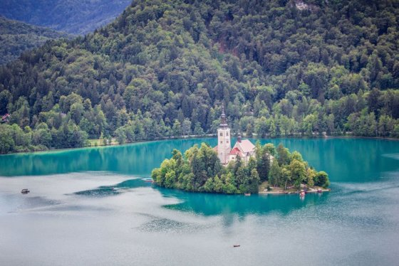 123RF nuotr./Bledo ežeras Slovėnijoje