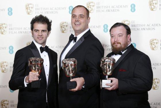 """""""Reuters""""/""""Scanpix"""" nuotr./Craigas Mannas, Benas Wilkinsas ir Thomas Curley apdovanoti už geriausią garsą filme """"Atkirtis"""""""