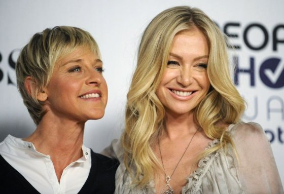 """Reuters""/""Scanpix"" nuotr./Ellen DeGeneres ir Portia de Rossi švenčia penktąsias santuokos metines"