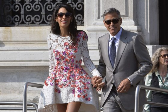 "AFP/""Scanpix"" nuotr./George'as Clooney ir Amal Alamuddin"