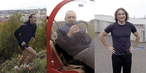 Redos Mickevičiūtės nuotr./Gydytojai Andrius Ramonas, Raimundas Leipus ir Rolandas Žiobakas