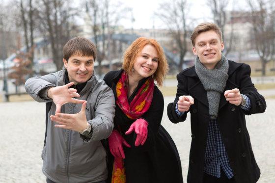Vito Jadzgevičiaus nuotr./INDIVA komanda: Edgaras Kurauskas, Birutė Kuklytė ir Matas Oželis