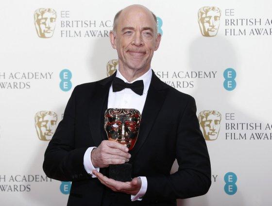 """""""Reuters""""/""""Scanpix"""" nuotr./J.K.Simmonsas apdovanotas už geriausią antraplanį vaidmenį filme """"Atkirtis"""""""