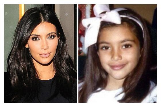 """""""Scanpix"""" ir """"Instagram"""" nuotr./Kim Kardashian dabar ir vaikystėje"""