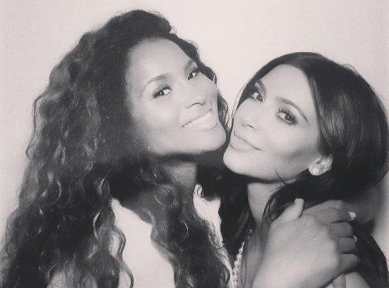 """Instagram"" nuotr./Kim Kardashian ir Ciara"