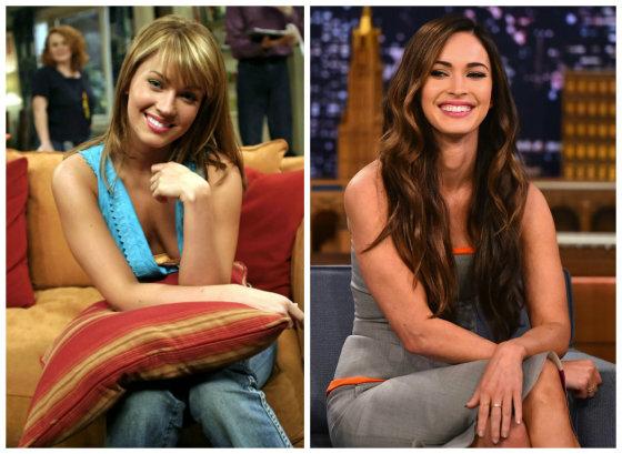 """AOP ir """"Scanpix""""/AFP nuotr./Megan Fox 2004 ir 2014 metais"""