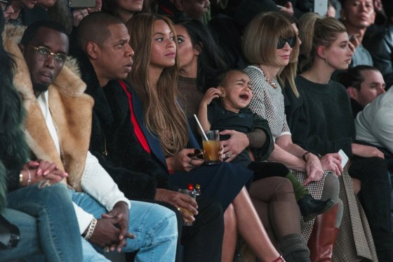 """Reuters""/""Scanpix"" nuotr./Seanas Combsas, Jay Z su Beyonce, Kim Kardashian su dukra North ir Anna Wintour"