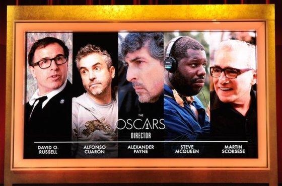 Dėl geriausio režisieriaus titulo grumsis Davidas O.Russellas, Alfonso Cuaronas, Alexanderis Payne'as, Steve'as McQueenas ir Martinas Scorsese