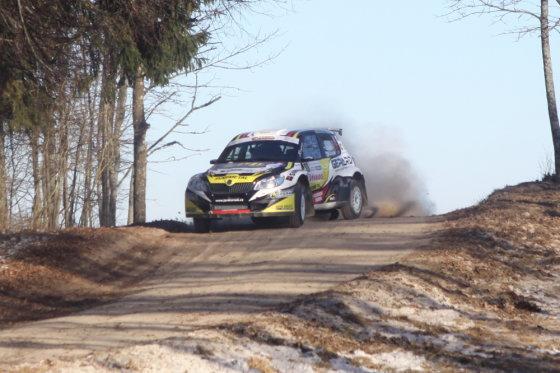 """Pauliaus Sviklo/GAZAS.LT nuotr./""""Halls Winter Rally"""" 11 ir 13 greičio ruožai"""