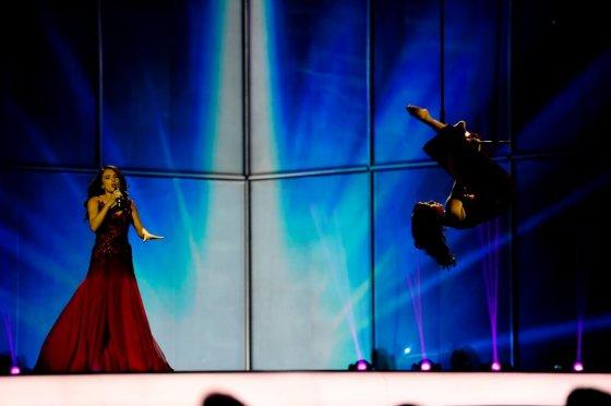 Thomas Hanses (EBU)/Azerbaidžano atstovė Dilara Kazimova
