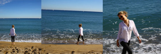 Asmeninio albumo nuotr./Liucinos Rimgailės atostogų Barselonoje akimirka
