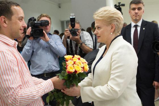 BFL nuotr./Dalia Grybauskaitė savo rinkimų štabe