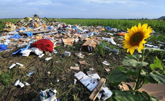 """""""Scanpix""""/""""Reuters"""", AFP nuotr./Malaizijos lėktuvo """"Boeing 777"""" katastrofos vieta rytų Ukrainoje"""