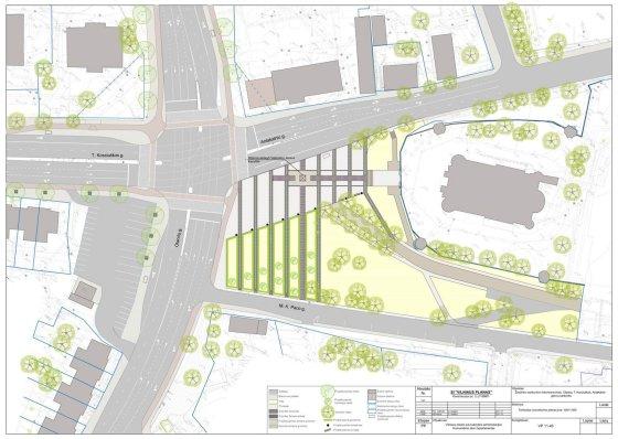 Vilniaus savivaldybės vizualizacija/Jono Pauliaus II aikštės rekonstrukcijos projektas