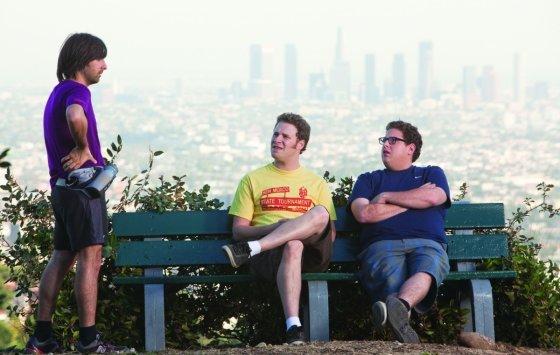 """Kadras iš filmo/""""Juokingi žmonės"""" (""""Funny People"""", 2009, IMDb – 6,4)"""