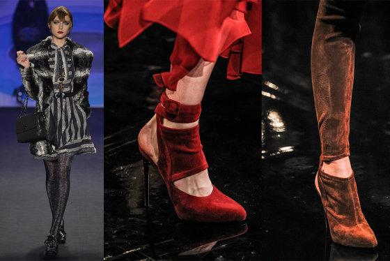 """""""Scanpix"""" nuotr./Pirma iš kairės: Anna Sui (Niujorkas); toliau: Donna Karan (Niujorkas) 2014-2015 m. rudens-žiemos kolekcijos."""