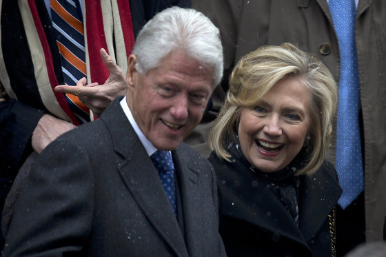 """Reuters""/""Scanpix"" nuotr./Billas Clintonas ir Hillary Clinton"