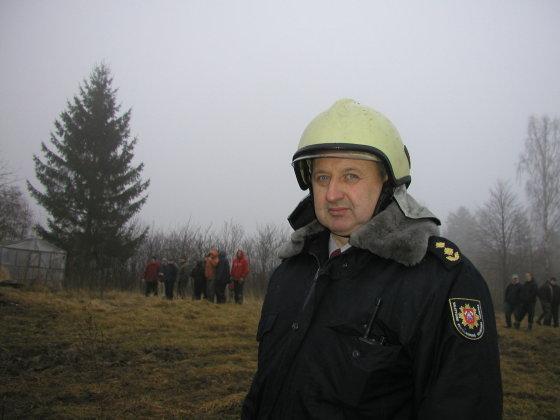 V.Danauskienės nuotr./Lazdijų rajono priešgaisrinės gelbėjimo tarnybos viršininkas Rimantas Bokmota