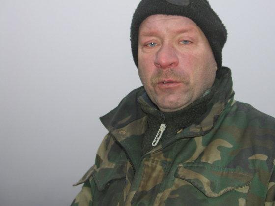 V.Danauskienės nuotr./Iš vakaro sudegusioje sodyboje puotavęs Vilius Grėbliūnas