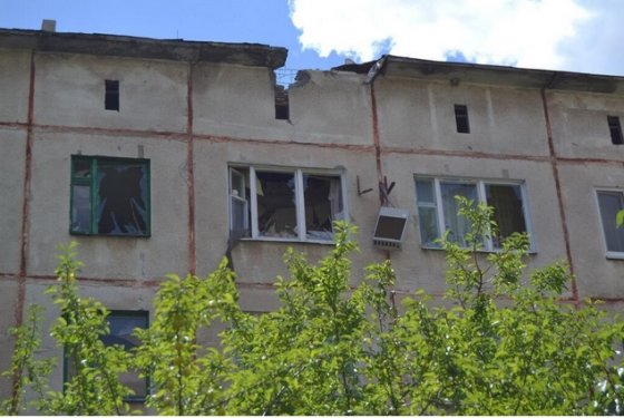 """""""Twitter"""" paskyros @Sloviansk nuotr./Slovjanskas po apšaudymo"""