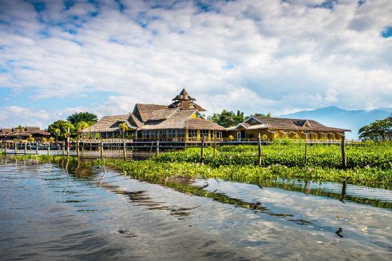 123rf.com nuotr./Inlės ežeras, Mianmaras